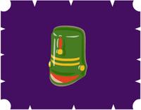 ブリキの兵隊帽・緑2000YM.PNG